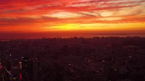 火燒云航拍4K視頻素材