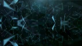 Plexus藍色多邊形優雅背景視頻素材