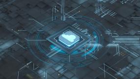 芯片与云计算背景3D渲染视频素材
