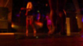 迪斯科俱乐部的舞池视频素材