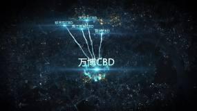 广州五大CBD蓝色区位路网AE模板AE模板