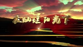 歌曲在灿烂阳光下字幕版d视频素材