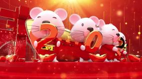 C4D2020鼠年吉祥春节片头C4D工程