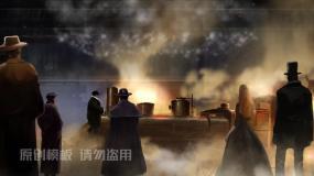 蒸汽时代到工业革命图文动画AE模板AE模板