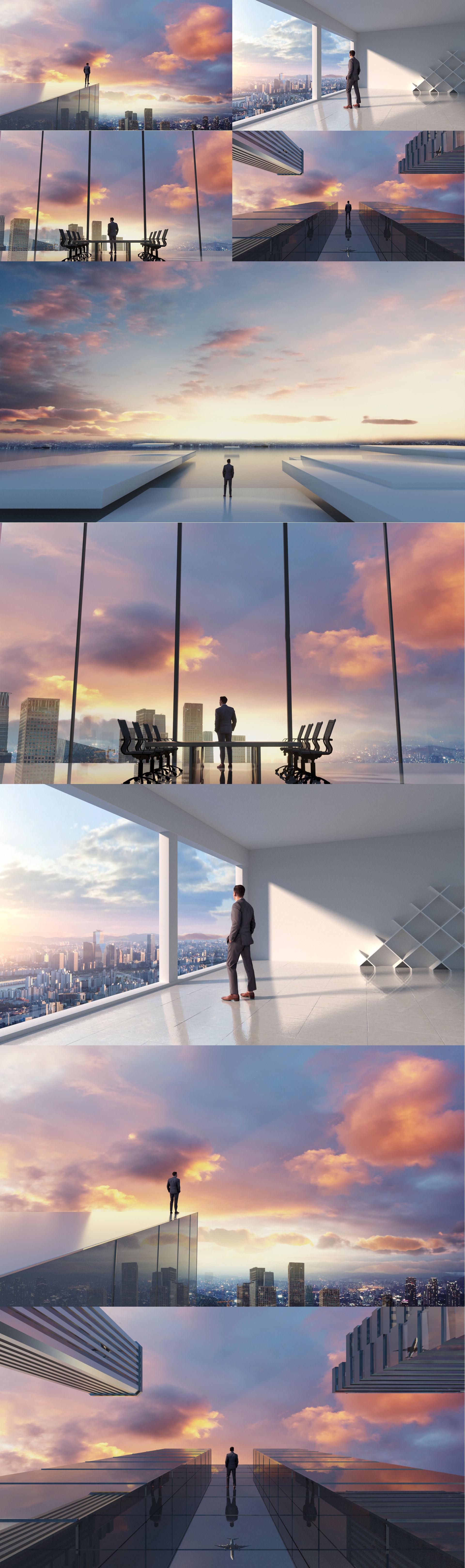 创意商务城市空间【无飞机】