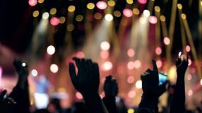 高举着手欢呼的观众视频素材