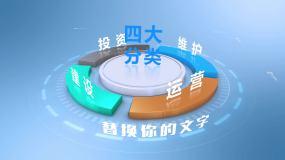 信息分类(三维干净简洁)AE模板
