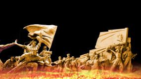 革命英雄先烈雕塑(通道循环)视频素材