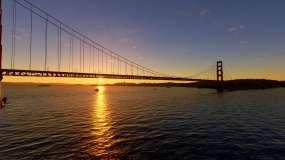 4k金门大桥航拍美国航拍视频素材