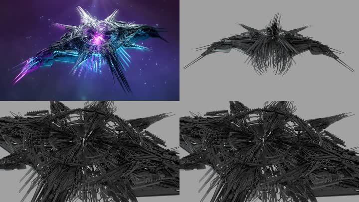 宇宙太空科幻外星飞船母舰