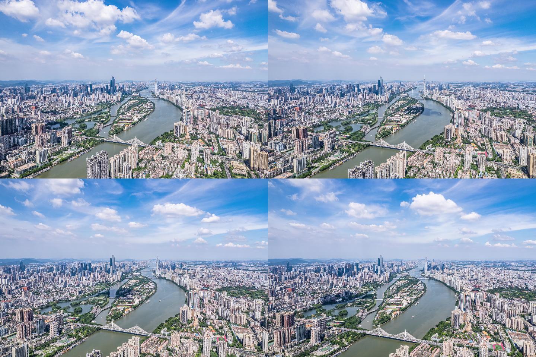 广州蓝天白云延时航拍5.5k-03