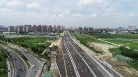 扬州江广快速路视频素材