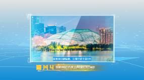 浅蓝色多图片包装展示多照片商务创意图文AE模板