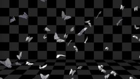 4k唯美卡通蝴蝶-带通道视频素材包