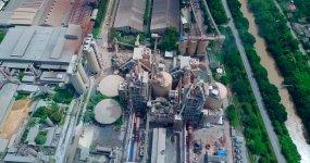 水泥厂鸟瞰图视频素材