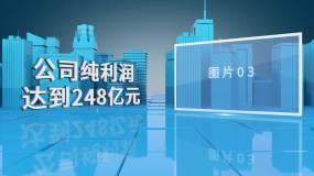 【原创】蓝色科技城市图文展示AE模板