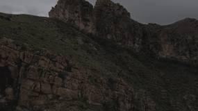 4K贺兰山笔架峰航拍视频素材