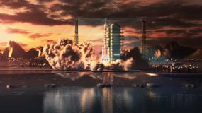 火箭卫星发射02视频素材