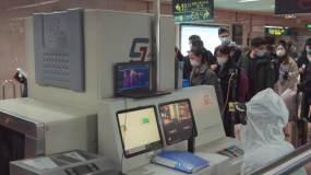 南京疫情地铁安检视频素材