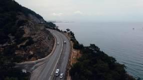 汽车海边行驶视频素材