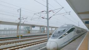 火车站人流动车高铁进站地铁视频素材