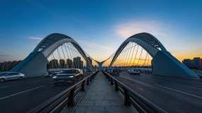 太原南中环桥日转夜延时视频素材