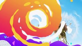 【最新】卡通彩色流体幻灯片照片介绍演示Pr模板