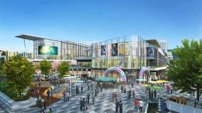 高端商业广场大景三维素材视频素材