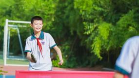 乒乓球 少年 小学生 课外活动 运动擦汗视频素材