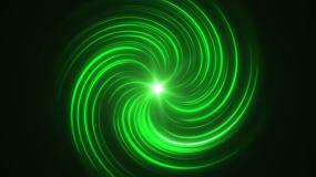 绿色光线漩涡能量汇聚视频素材