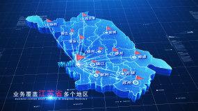 【无插件】科技简洁两款江苏地图AE模板