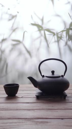 茶壶和茶杯视频素材