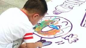 儿童绘画 涂鸦 环保活动 环境卫生视频素材