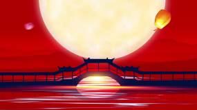 水墨古风中秋节宣传片头3视频素材