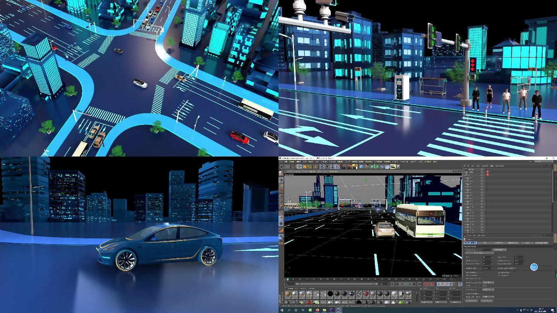 城市智能交通C4D工程