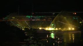 原创可商用 深圳欢乐海岸水秀剧场深蓝秘境视频素材