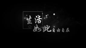 9款粒子文字书法银白色标题字幕AE模板