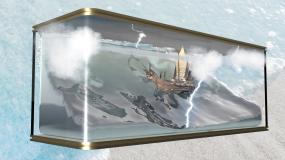 5K裸眼3D惊涛骇浪海盗船(可定制)视频素材包