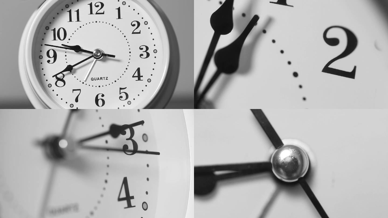 钟表时间,时光流逝(实拍)