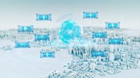 白色模型智慧城市AE模板
