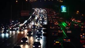 警示教育反腐扫黑-夜晚车流素材视频素材