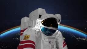 【4k】中国空间站太空任务视频素材