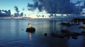 珠海渔女航拍合辑视频素材