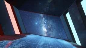 未来感隧道空间 3D渲染视频素材