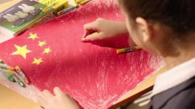 绘画国旗视频素材