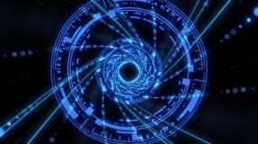 宇宙时空隧道穿梭(3)视频素材