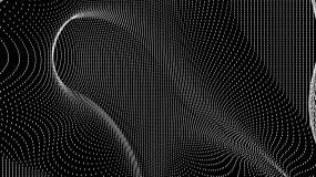 【4K时尚背景】黑白抽象方点图形艺术元素视频素材