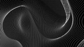 【4K时尚背景】黑白抽象方点线条炫酷元素视频素材