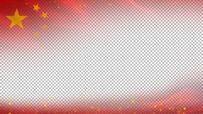 红旗边框-无缝循环带透明通道视频素材