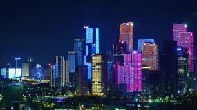 前海自贸区之夜视频素材